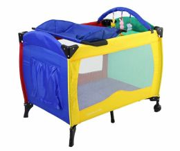 Dream On Me, Incredible 2 Level Full Size Play Yard with Changing Top, Multi Color
