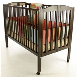 Dream On Me, Folding Full Size Crib, Espresso