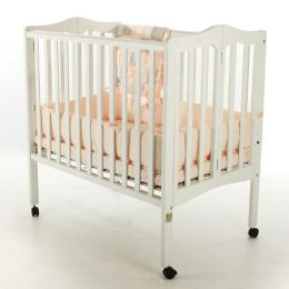 Dream On Me,  2 in 1 Lightweight Folding Portable Crib, White