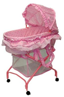 Dream On Me, 2 in 1 Bassinet To Cradle, Pink