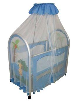 Dream On Me, Cassidy Canopy Portable Crib, Blue