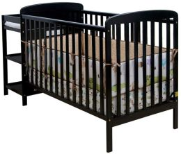 Dream On Me, 2 in 1 Full Size Crib and Changing Table Combo, Black