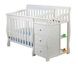 Dream On Me, Jayden 2 in 1 Convertible with Changer, White