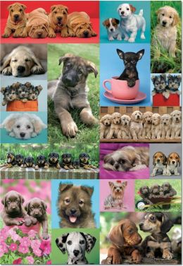 Puppies Collage 1000 Piece Puzzle