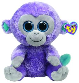 Ty Beanie Boos Plush - Blueberry purple monkey 13in