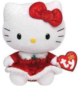 Beanie Babies Hello Kitty red dress