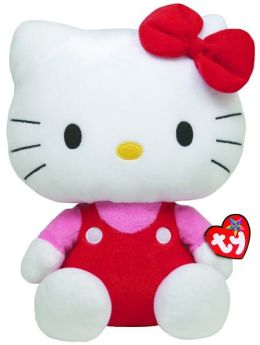 Ty Beanie Babies 9 Inch Plush - Hello Kitty Red Overalls