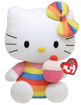 Ty Beanie Babies 13 Inch Plush - Hello Kitty Cupcake