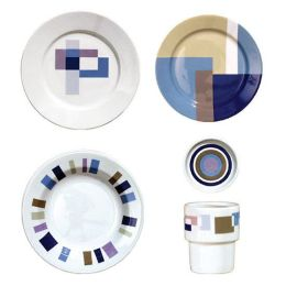 Circuit 5-Piece Place Setting - Blue