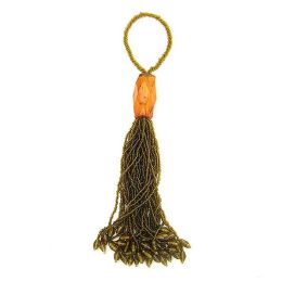 Amber Beaded Tassel/Napkin Ring