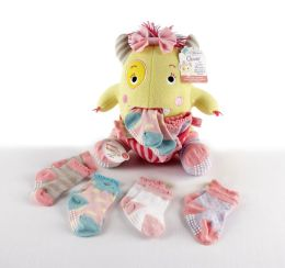 ''Clover the Closet Monster'' Knit Baby Socks and Plush Monster Gift Set