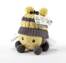 Critter Couture Caps Knit Bee Plush Toy and Knit Cap for Baby