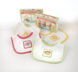 Animal Crackers for Messy Snackers Bib Set