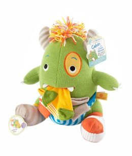 ''Calvin the Closet Monster'' Knit Baby Socks and Plush Monster Gift Set