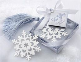 Kate Aspen 14043NA Snowflake Bookmark with Silver Finish and Elegant Ice-Blue Tassel- Case of 96