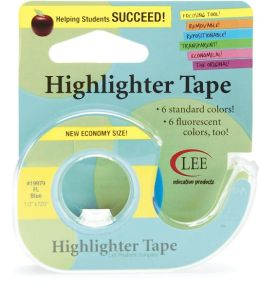 Fluorescent Highlighter Tape 1/2