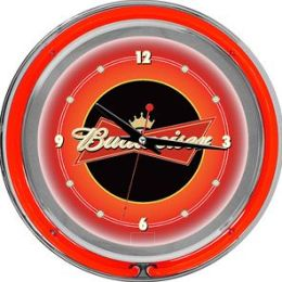 Budweiser 14 Inch Double Ring Neon Wall Clock