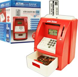 Deluxe ATM Toy Bank wit ATM Card - Red