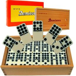 Premium Set of 55 Double Nine Dominoes with Wood Case