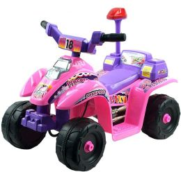 Lil' Rider 4 Wheel Battery Operated Mini ATV - Pink/Purple