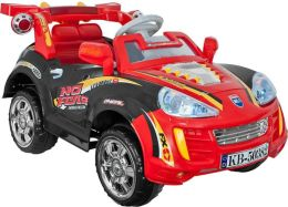Lil' Rider Battery Powered Sports Car with Remote - Black/Red