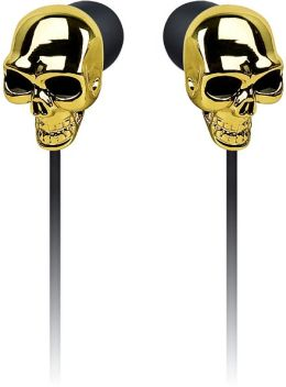 Skull Earbuds in Gold