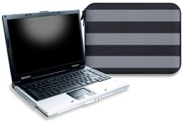 Zipper Laptop Sleeve in Two Tone Rugby Chrome