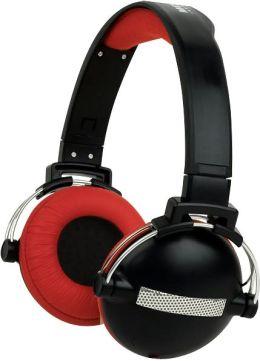 Round Retro Headphones - Urban Beatz-Black/Red
