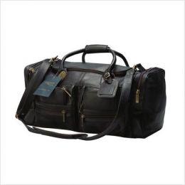 Claire Chase 303E-black Executive Sport Duffel - XL - Black