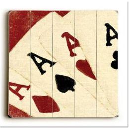 ArteHouse 0003-2578-34 Four Aces Vintage Sign