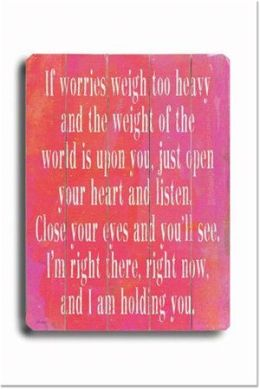ArteHouse 0003-9044-31 If Worries Weigh Too Heavy-Pink 1 Vintage Sign