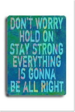 ArteHouse 0003-9046-32 Dont Worry Vintage Sign