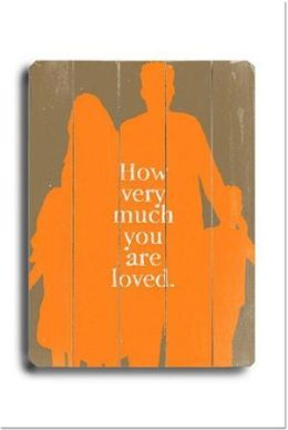 ArteHouse 0003-9047-32 How Much you are Loved Vintage Sign