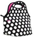 Product Image. Title: Gourmet Getaway Lunch Tote - Big Dot Black and White