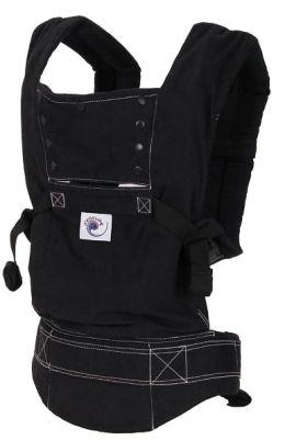 ERGO Baby Baby Carrier - Black Sport/White Stitching