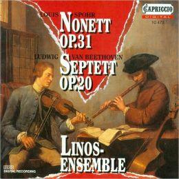 Spohr: Nonett, Op. 31; Beethoven: Septett, Op. 20
