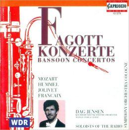 Fagottkonzerte: Mozart, Hummel, Jolivet, Françaix