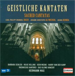 Geistliche Kanaten: C.P.E. Bach, Altnickol, Benda