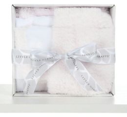 Splash and Dry hooded towel + washcloth boxed set pink