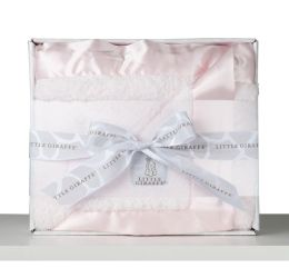 Pink Chenille Blanket in a BoX