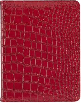 Darwin Red Croc Folio Case for iPad
