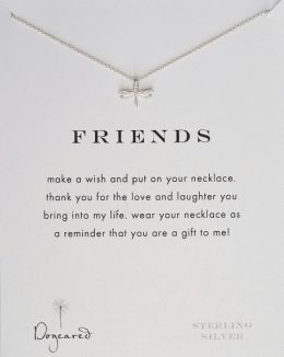 Friends Dragonfly Necklace, 18