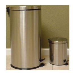 Ragalta RTB-028 Set of 2 Stainless Steel Trash Bins