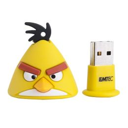 EMTEC A102 Angry Birds 4 GB USB 2.0 Flash Drive - Yellow Bird