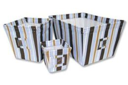 Trend-Lab 109011 Max Stripe - Bin - 3 Pc Set