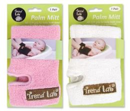 Trend-Lab 20121 PALM MITT- 2 PK- PINK/WHITE