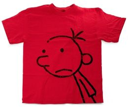 Diary Of A Wimpy Kid Greg Youth Red Tee Large