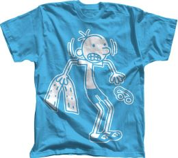 Diary of a Wimpy Kid ''Greg in Swim Gear'' Carolina Blue T-Shirt - S/M