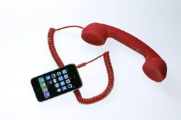 Native Union POP Phone Retro Handset for iPhone/Blackberry and Smartphones - Soft Touch Red