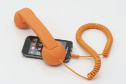 Native Union POP Phone Retro Handset for iPhone/Blackberry and Smartphones - Orange